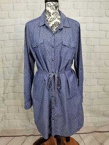 G H Bass & Co sz xl button front long sleeve dress